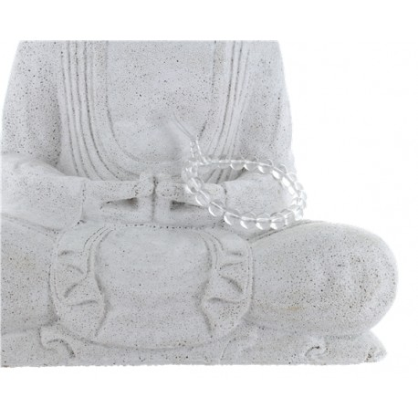 Bracelet mala tibétain - Cristal de roche - Lot de 5