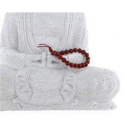 Bracelet mala tibétain - Jaspe rouge - Lot de 5