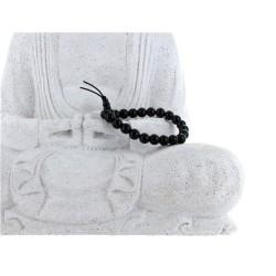 Bracelet mala tibétain - Obsidienne noire - Lot de 5