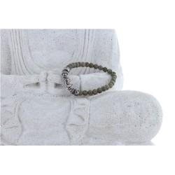 Bracelet Labradorite et Charms Bouddha