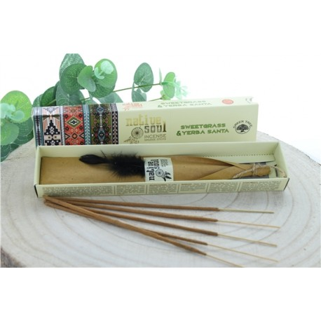 Encens Green Tree Native Soul Foin d'odeur & Yerba Santa Lot de 12