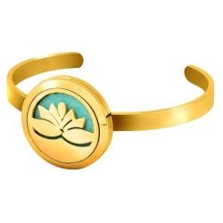 Diffuseur Bracelet Lotus Doré
