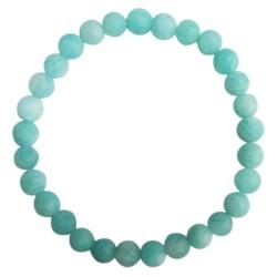 Bracelet Amazonite Perles rondes 6 mm Mates