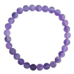 Bracelet Améthyste Perles rondes 6 mm Mates