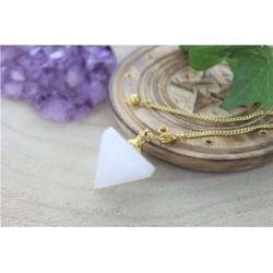 Pendule Toupie en Cristal de Roche